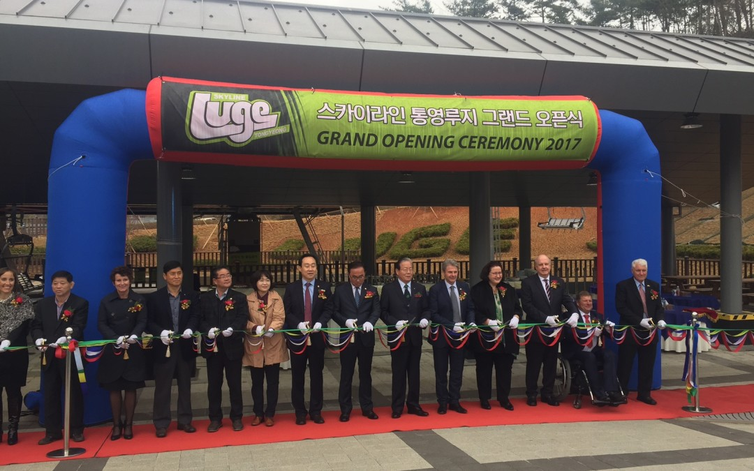 Skyline Enterprises opens $20m Luge development in Tongyeong City, South Korea